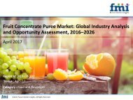 Fruit Concentrate Puree Market