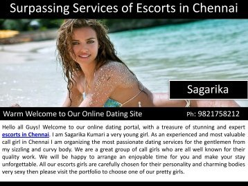 Surpassing Services of Escorts in Chennai