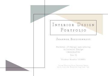 INTERIOR DESIGN Portfolio A3