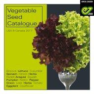 Catalogue Vegetable Seeds USA 2017
