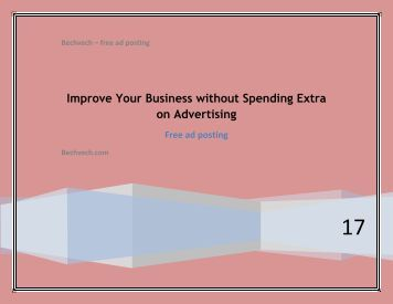 Improve Your Business without Spending Extra on Advertising