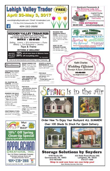 Lehigh Valley Trader April 20-May 3, 2017 issue