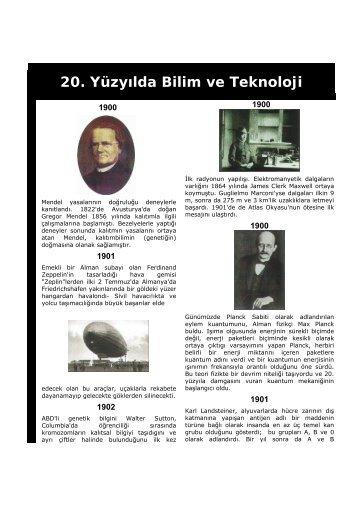 20. yy bilim ve teknoloji