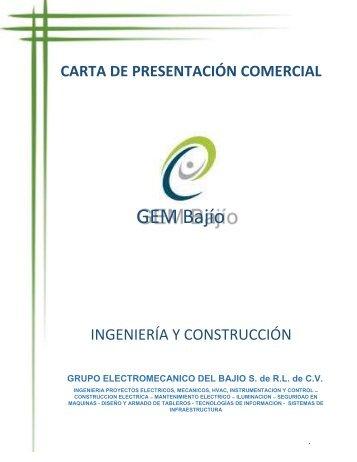 GEM BAJIO CARTA DE PRESENTACION COMERCIAL