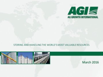2016 AGI Corporate Presentation