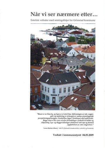 Estetiske retningslinjer Grimstad kommune 2009