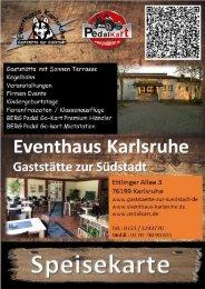 Speisekarte Gaststätte zur Südstadt Karlsruhe