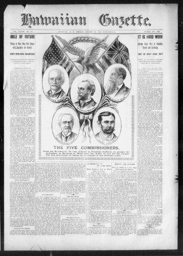 THE FIVE COMMISSIONERS. - eVols
