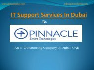 IT Support Services Dubai, IT Outsourcing Company Dubai