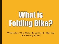 What is Folding Bike and its Benefits