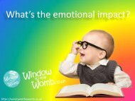 What's the emotional impact? - Window to the Womb