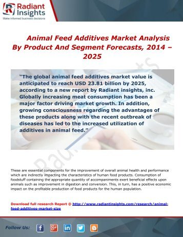 Animal Feed Additives Market Growth, Trends and Analysis Report To 2014 - 2025