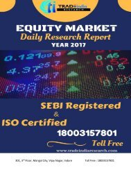 Equity Cash Daily Report for 21 Apr 2017 TradeIndia Research
