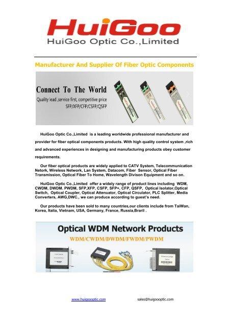 Fiber Optic Component CWDM DWDM WDM SFP
