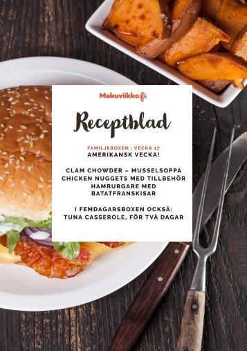 Makuviikko Receptblad 17 FAMILJ PE