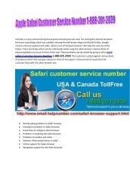 Apple Safari Browser Customer Service