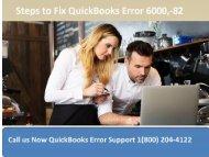 18002044122 How to Troubleshoot QuickBooks Error 6000, -82?