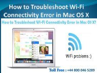 How to Troubleshoot Wi-Fi Connectivity Error in Mac OS X