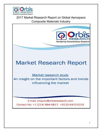 Aerospace Composite Materials Market Research Report: Global Analysis 2017-2022