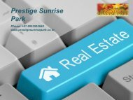 Prestige Sunrise Park in Bangalore