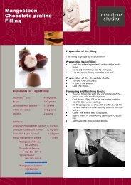 Mangosteen Chocolate praline Filling - Creative Studio
