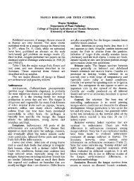 Mango diseases and their control - ctahr - University of Hawaii