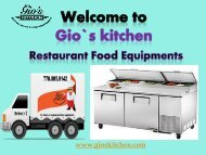 commercial kitchen equipments in Vancouver BC