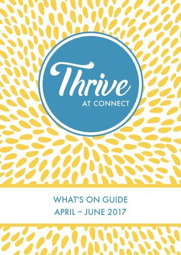 Thrive at Connect - What's on Guide 2017