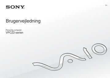 Sony VPCZ21M9E - VPCZ21M9E Mode d'emploi Danois