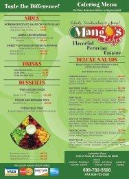 609-702-5590 FAX 609-702-5592 - Mango's Cafe