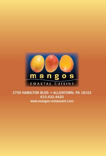 Lunch Menu - Mangos Restaurant