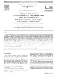 Antimicrobial effects of Thai medicinal plants ... - Sanamedica.it