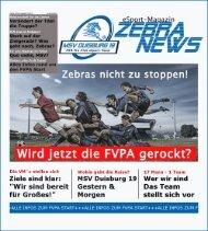MSV Duisburg 19 Magazin 01/17