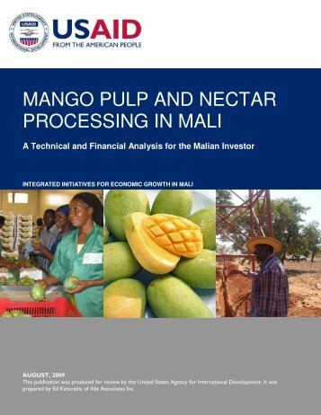 MANGO PULP AND NECTAR PROCESSING IN MALI