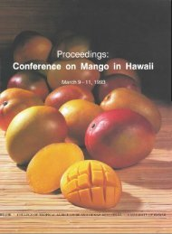 Proceedings: Conference on Mango in Hawaii - College of Tropical ...
