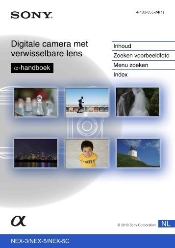 Sony NEX-3K - NEX-3K Guide pratique Néerlandais