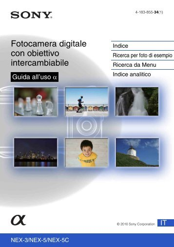 Sony NEX-3K - NEX-3K Guide pratique Italien