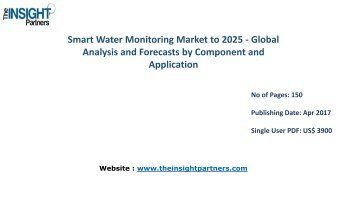 Worldwide Smart Water Monitoring Industry - Global Industry Analysis, Size, Share, Growth, Trends and Forecast 2016 - 2025 |The Insight Partners