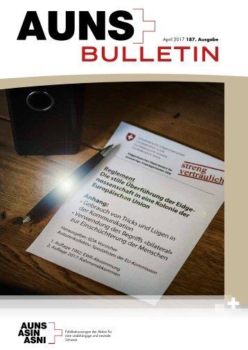 ASIN Bulletin - Mitglieder-Zeitschrift zur Schweizer Aussenpolitik, Neutralität, Europapolitik