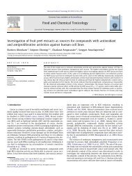 Investigation of fruit peel extracts as sources for ... - ThaiScience