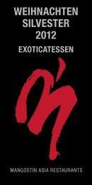 WEIHNACHTEN SILVESTER 2012 - Kuffler Gastronomie München