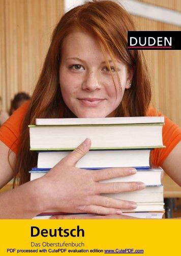 DUDEN Deutsch Das Oberstufenbuch