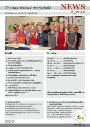 NEWS - Thomas-Mann-Grundschule