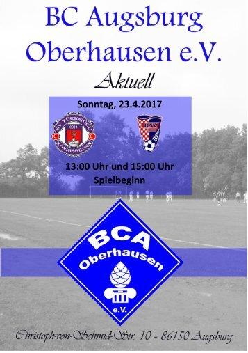 2017.04.23 - Heimspielwochenende bei BC Augsburg Oberhausen