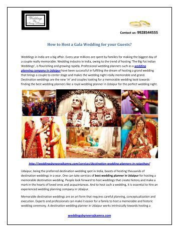 How to Host a Gala Wedding for your Guests