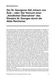 Der St. Georgener Abt Johann von Sulz - Michael Buhlmann