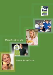 Annual Report 2010 Dairy: Food for Life - The National Dairy Council