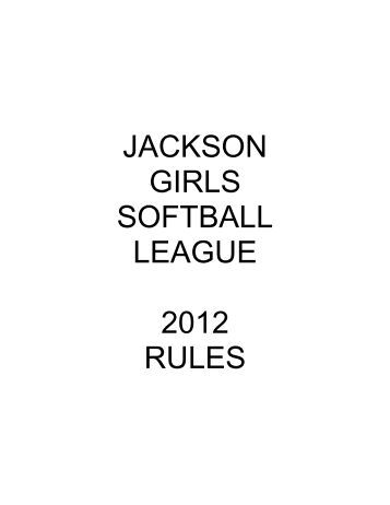 WOODSTOCK LITTLE LEAGUE 2012 Minor AAA League Rules