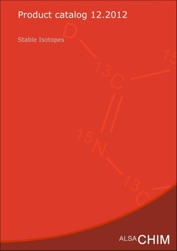 Catalog : Stable Isotopes - Alsachim