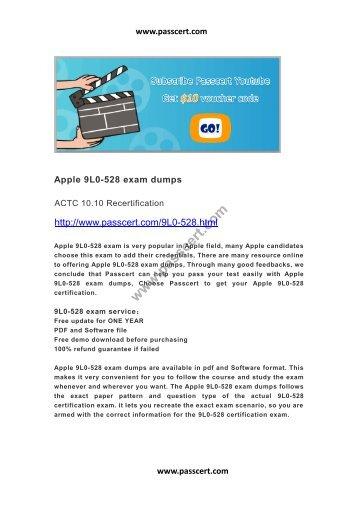 Apple 9L0-528 exam dumps